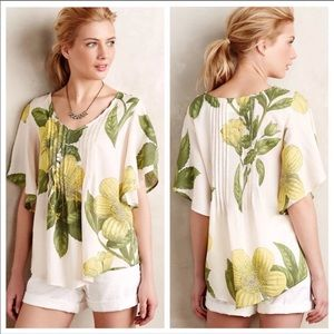 Anthropologie Maeve maya peasant top